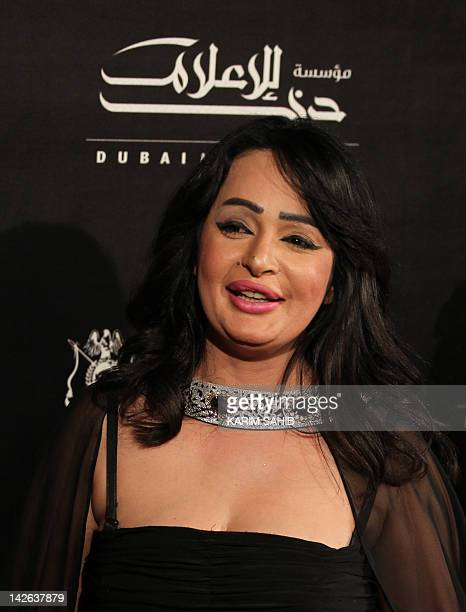 Emirati actress Badria Ahmad poses for a picture during the opening ceremony of the Gulf Film Festival in Dubai on April 10 2012 AFP PHOTO/KARIM SAHIB