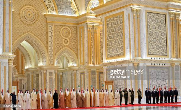 Emirati and Chinese ministers await the arrival of Chinese President Xi Jinping and Crown Prince of Abu Dhabi Sheikh Mohamed bin Zayed Al Nahyan...