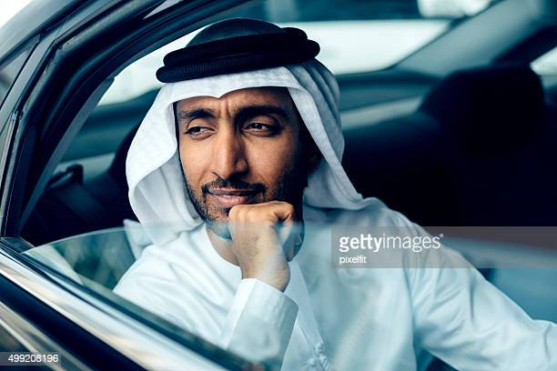 Emirati Businessman in a car, Dubai