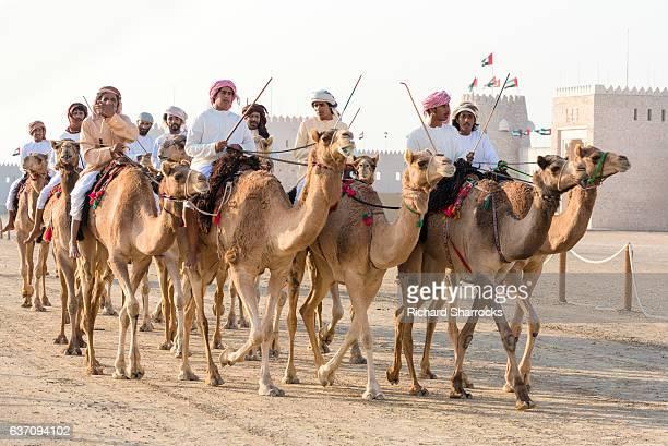 Emirati camel riders