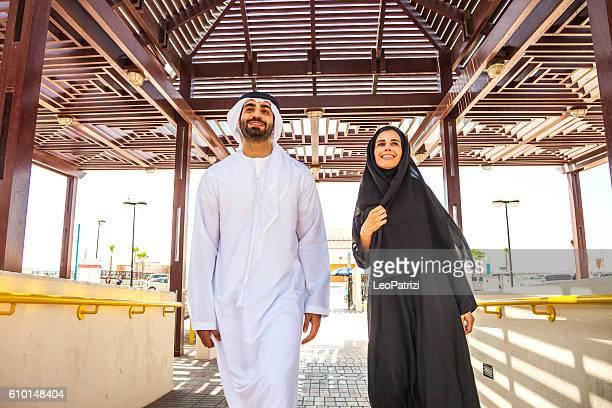 Emirati couple in Dubai - enjoying life outdoor