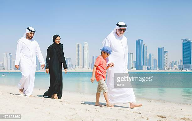 Emirati Family Enjoying at Beach