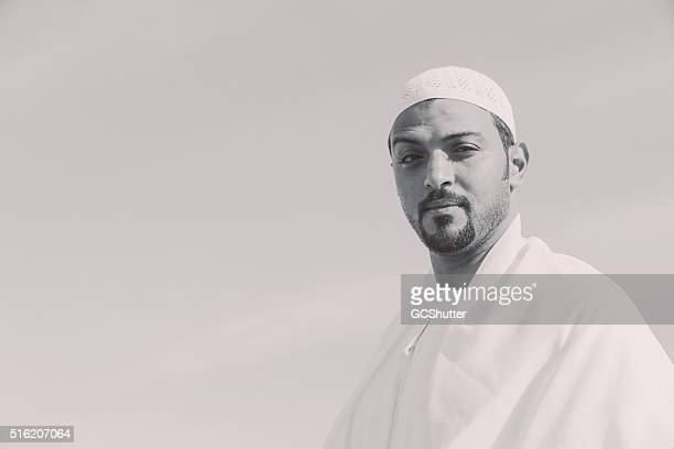 Emirati man smiling as he looks into the camera