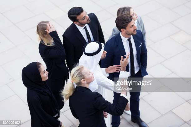 Emirati man working to sell a large business to foreign nationals