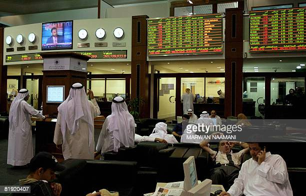 60 Top Traders On The Floor At The Dubai Financial Market Pictures
