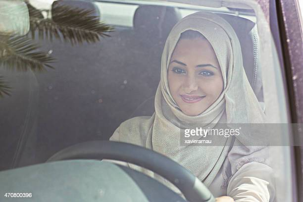 Emirati woman driving a car
