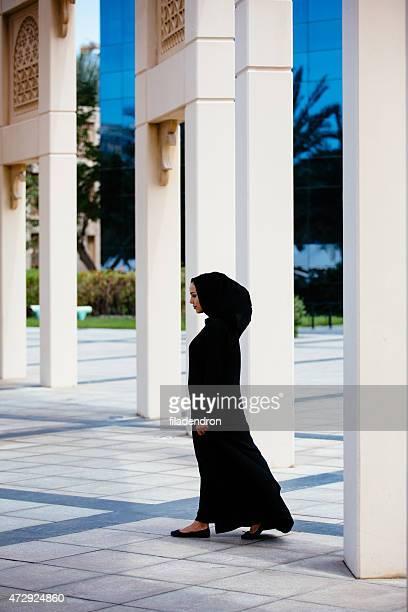 Emirati woman full-leught portrait