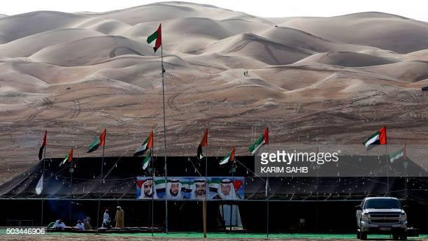 Emiratis attent the Liwa 2016 Moreeb Dune Festival on January 5 in the Liwa desert 250 kilometres west of the Gulf emirate of Abu Dhabi The festival...