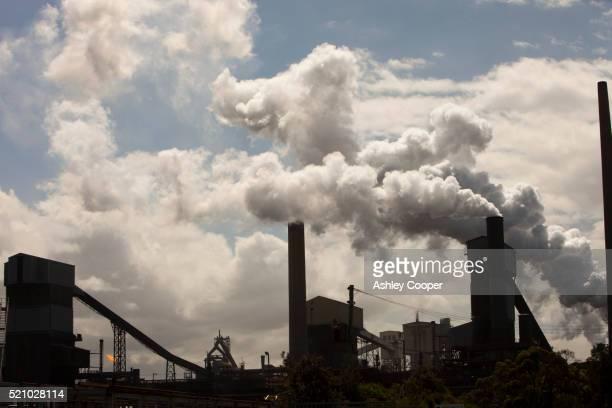 Emissions from Bluescope steel works at Port Kembla