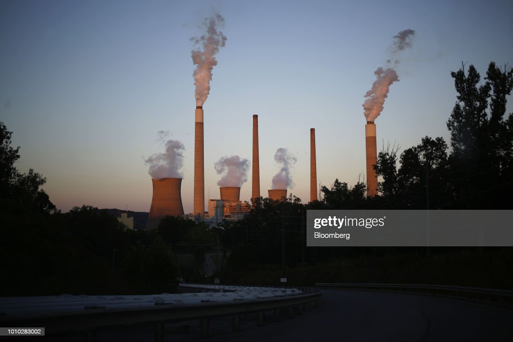 The AEP Coal-Fired John E. Amos Power Plant As EPA Reviews MATS : News Photo