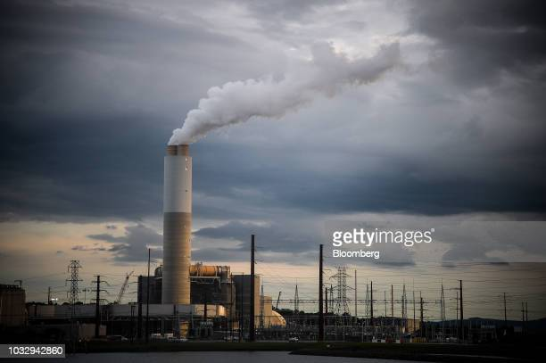 Emissions rise from the Duke Energy Corp coalfired Asheville Power Plant ahead of Hurricane Florence in Arden North Carolina US on Thursday Sept 13...