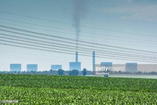Emissions rise from the Eskom Holdings SOC Ltd  Kendal coal