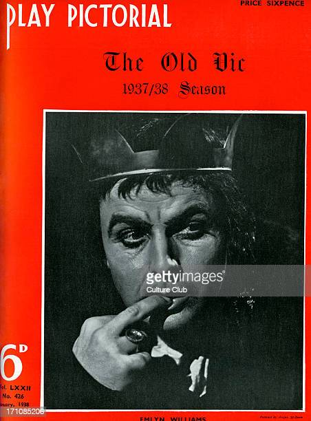 Emlyn Williams playing the title role in William Shakespeare's 'Richard III' Tyrone Guthrie's production at the Old Vic 1937/8 Cover of 'Play...