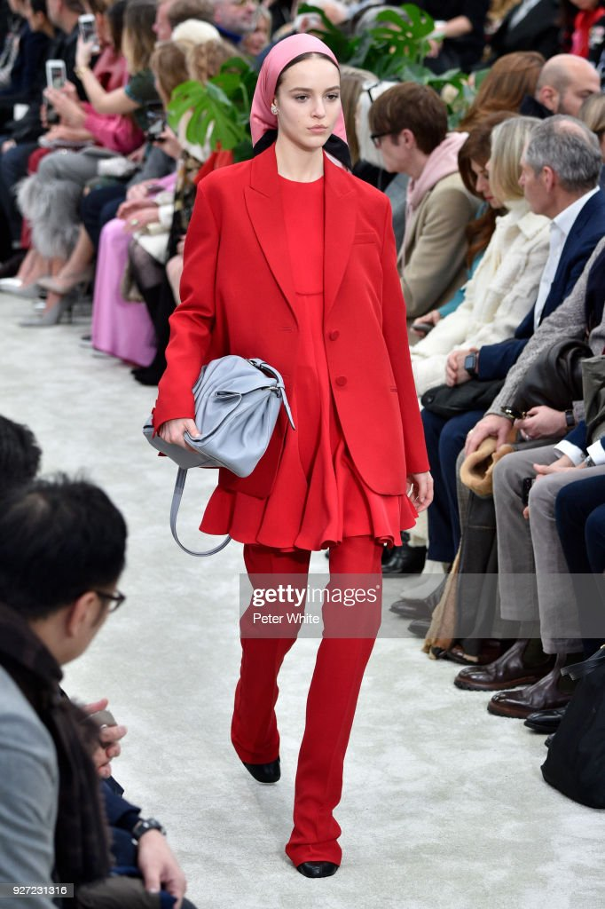 Emm Arruda walks the runway during the Valentino show as part of the Paris Fashion Week Womenswear Fall/Winter 2018/2019 on March 4, 2018 in Paris, France.