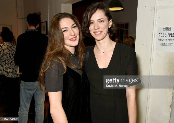 Emma and Rebecca Hall attend the press night performance of 'School Play' at Southwark Playhouse on February 6 2017 in London England