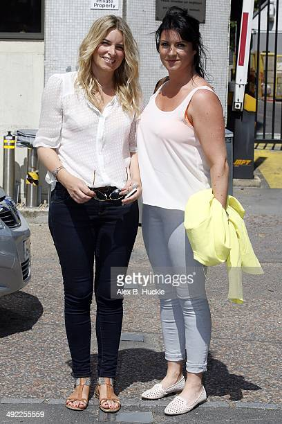 Emma Atkins and Laura Norton sighted leaving the ITV Studios after an appearance on 'This Morning' in London England