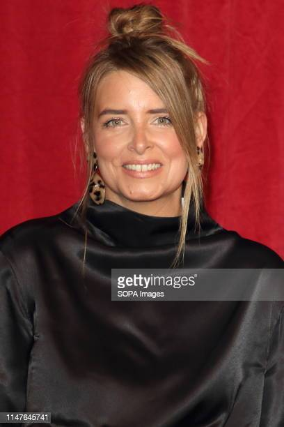 Emma Atkins arrives on the red carpet during The British Soap Awards 2019 at The Lowry, Media City, Salford in Manchester.