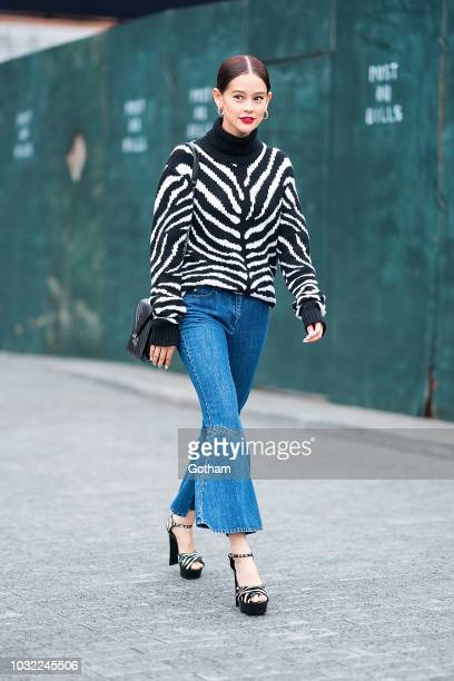Emma attends the Michael Kors fashion show during New York Fashion Week The Shows at Pier 17 in the South Street Seaport on September 12 2018 in New...