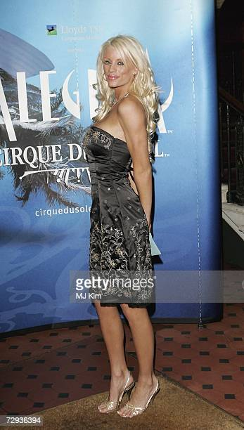 Emma B arrives at the premiere for the new Cirque Du Soleil production Alegria at the Royal Albert Hall on January 5 2007 in London England
