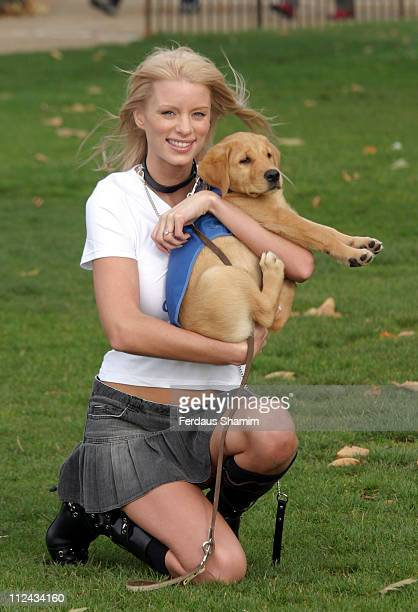 Emma B during Emma B Launches National Puppy Walker Appeal in Aid of Guide Dogs at Speakers Corner Hyde Park in London Great Britain