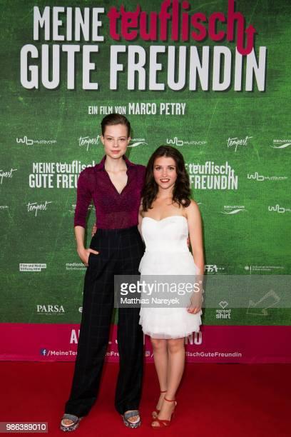 Emma Bading and Janina Fautz attend the 'Meine teuflisch gute Freundin' Premiere at Cinemaxx on June 28 2018 in Berlin Germany