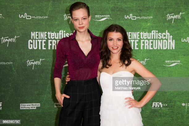 Emma Bading and Janina Fautz attends the 'Meine teuflisch gute Freundin' Premiere at Cinemaxx on June 28 2018 in Berlin Germany