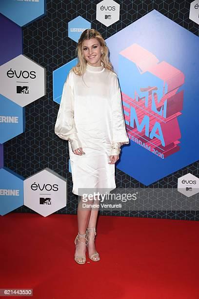 Emma Bale attend the MTV Europe Music Awards 2016 on November 6 2016 in Rotterdam Netherlands