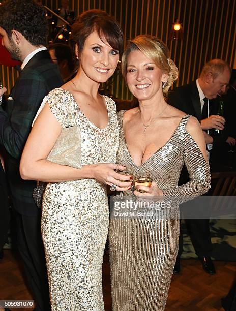 Emma Barton and Gillian Taylforth attend the 21st National Television Awards at The O2 Arena on January 20 2016 in London England
