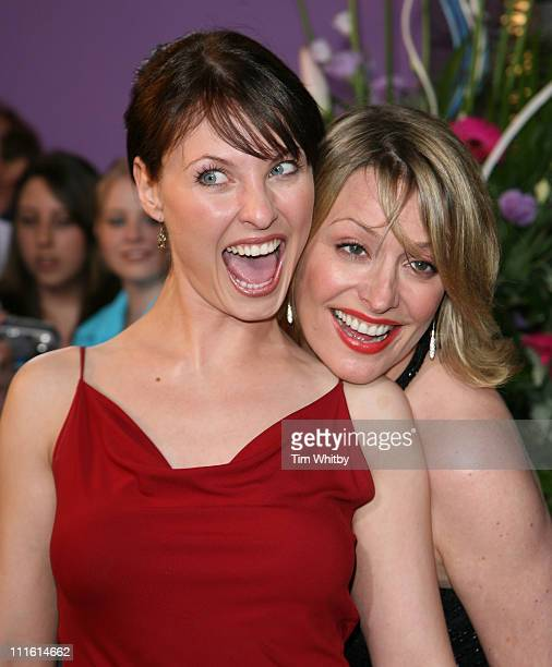 Emma Barton and Laurie Brett during British Soap Awards 2006 Arrivals at BBC Television Centre in London Great Britain