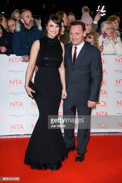 Emma Barton and Perry Fenwick attends the National Television Awards 2018 at The O2 Arena on January 23 2018 in London England