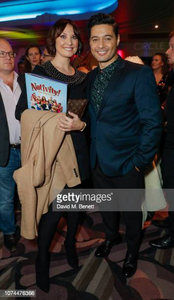 Emma Barton and Stephen RahmanHughes attend press night performance of Nativity The Musical at The Eventim Apollo Hammersmith on December 20 2018 in...
