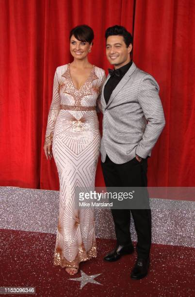 Emma Barton and Stephen RahmanHughes attend the British Soap Awards at The Lowry Theatre on June 01 2019 in Manchester England