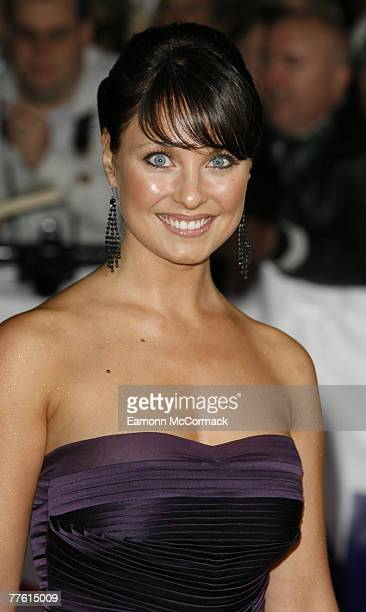 Emma Barton arrives for the National Television Awards at the Royal Albert Hall on 31 October 2007 in London England