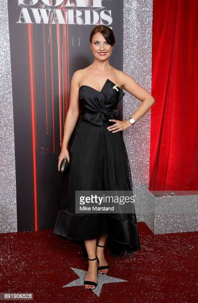 Emma Barton attends The British Soap Awards at The Lowry Theatre on June 3 2017 in Manchester England The Soap Awards will be aired on June 6 on ITV...