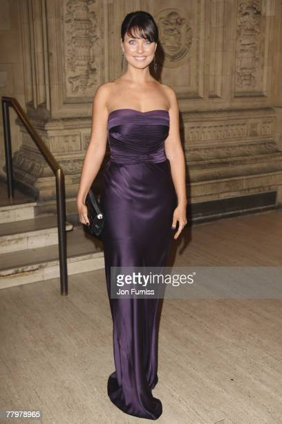 Emma Barton attends the National Television Awards 2007 held at the Royal Albert Hall on October 31 2007 in London England