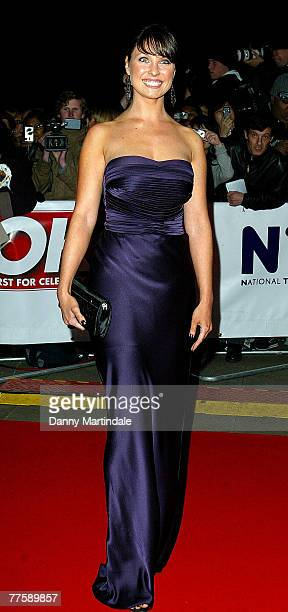 Emma Barton attends the National Television Awards at The Royal Albert Hall on October 31 2007 in London England