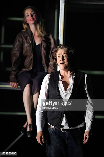 Emma Bell as Leonore and Sarah Tynan as Marzelline in English National Opera's production of Ludwig Van Beethoven's Fidelio directed by Calixto...