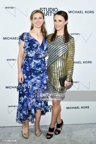 Emma Bloomberg and Georgina Bloomberg attend the Whitney Museum Of American Art Gala Studio Party at The Whitney Museum of American Art on April 09...