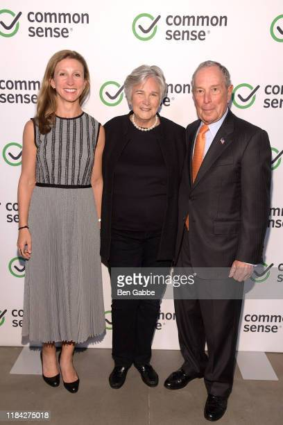 Emma Bloomberg Diane Ravitch and Michael Bloomberg attend the 2019 Common Sense Awards at The Shed on October 29 2019 in New York City