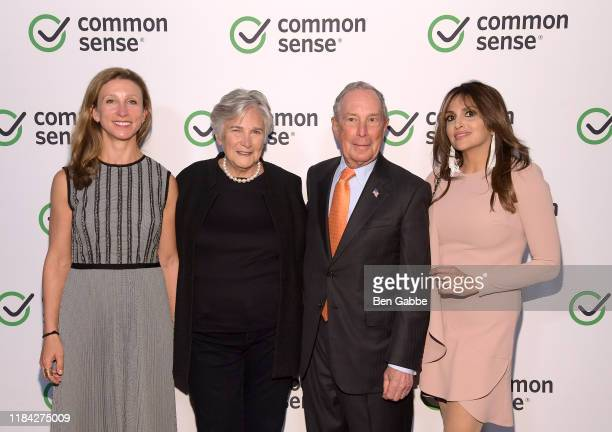 Emma Bloomberg Diane Ravitch Michael Bloomberg and Samira Sine attend the 2019 Common Sense Awards at The Shed on October 29 2019 in New York City