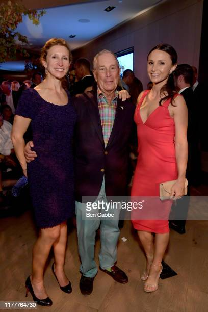 Emma Bloomberg Michael Bloomberg and Georgina Bloomberg attend the Celebration of The Inaugural Longines Global Champions Tour Of New York with...