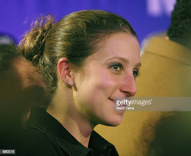 Emma Bloomberg the daughter of the Republican mayoral candidate Michael Bloomberg looks on at his victory party November 7 2001 in New York City...