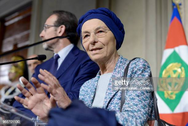 Emma Bonino at the end of the Consultations of the President of the Republic for the formation of the new Government on May 7 2018 in Rome Italy...