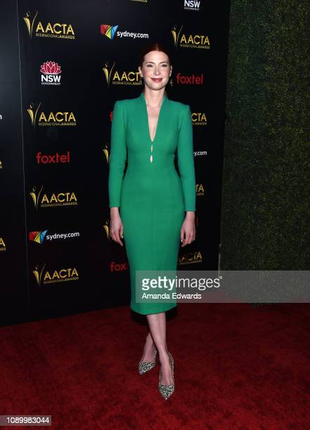 Emma Booth arrives at the 8th AACTA International Awards at Mondrian Los Angeles on January 04 2019 in West Hollywood California