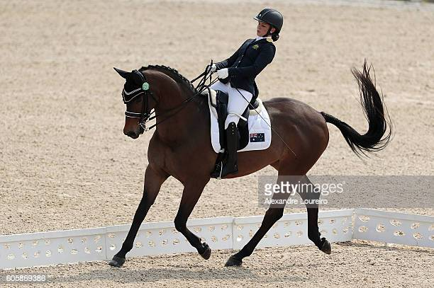 Emma Booth of Australia onboard Zidane during Equestrian Dressage Individual Championship Test Grade II Final on day 8 of the Rio 2016 Paralympic...