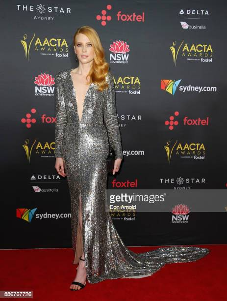 Emma Booth poses during the 7th AACTA Awards at The Star on December 6 2017 in Sydney Australia