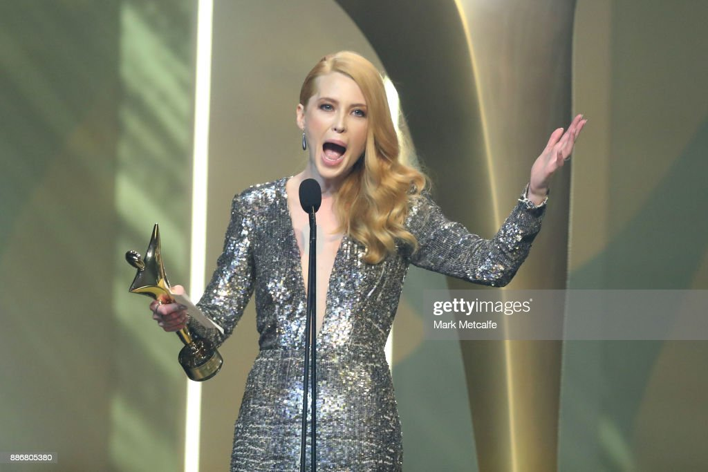 Emma Booth wins an AACTA Awards for Best Lead Actress (Film) during the 7th AACTA Awards Presented by Foxtel | Ceremony at The Star on December 6, 2017 in Sydney, Australia.