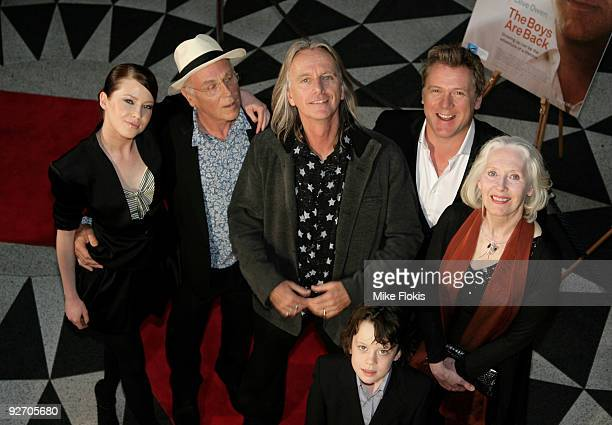 """Emma Booth,Chris Haywood,Scott Hicks,Erik Thomson,Julia Blake and Nicholas McAnulty arrive for the premiere of """"The Boys Are Back"""" at Dendy Opera..."""