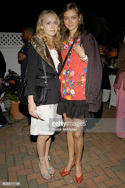 Emma Borg and Kaja Sokola attend WANDA MURPHY Unveils her IN MEMORY OF YOU Collection at EZAIR GALLERY NELLO'S on May 28 2006 in Southampton New York