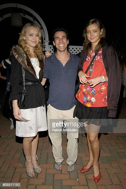 Emma Borg Joe Schildhorn and Kaja Sokola attend WANDA MURPHY Unveils her IN MEMORY OF YOU Collection at EZAIR GALLERY NELLO'S on May 28 2006 in...